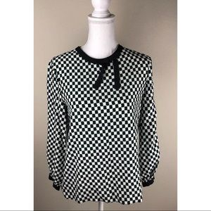 Kate Spade Silk Blend Printed Blouse ~Size S~